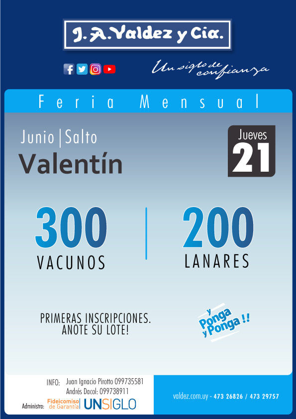 Afiche 21 de Junio - Local Valentín